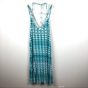 RVCA Tie Dye Southwestern Blue & Teal Dress Medium